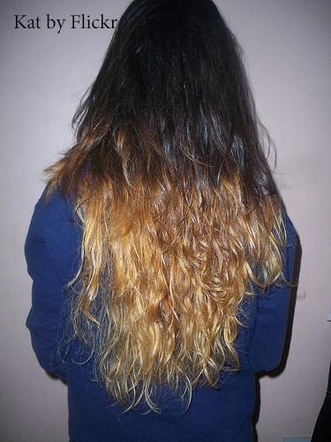 омбре на тёмно русых волосах фото