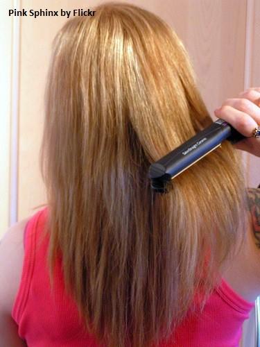 Волосы можно выпрямить самой