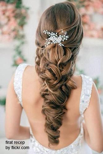 Красивое плетение для свадебной прически
