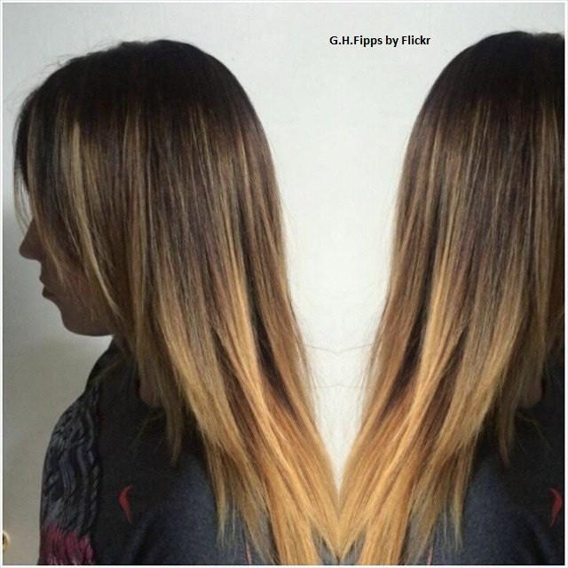 Мелирование вуаль на темные волосы фото