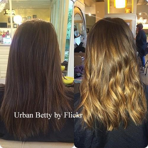 балаяж волос фото до и после