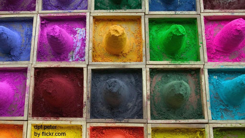 Как сделать цветной порошок
