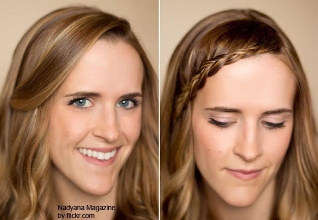 распущенные волосы можно украсить небольшой косичкой