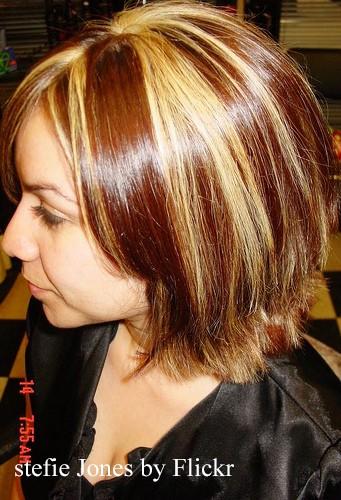 Колорирование на мелированные волосы фото - 8e