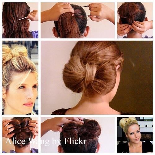 Причёска бантик из волос пошаговая инструкция