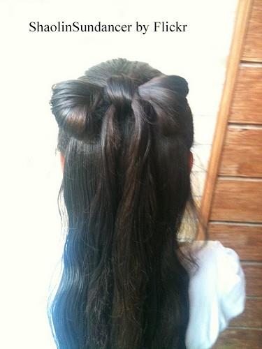 Прическа бантик из волос пошаговая инструкция картинки 1