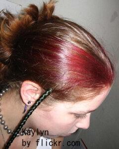 Графические пряди на длинных волосах