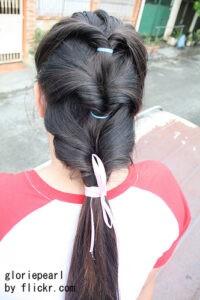Причёски из хвостиков в школу