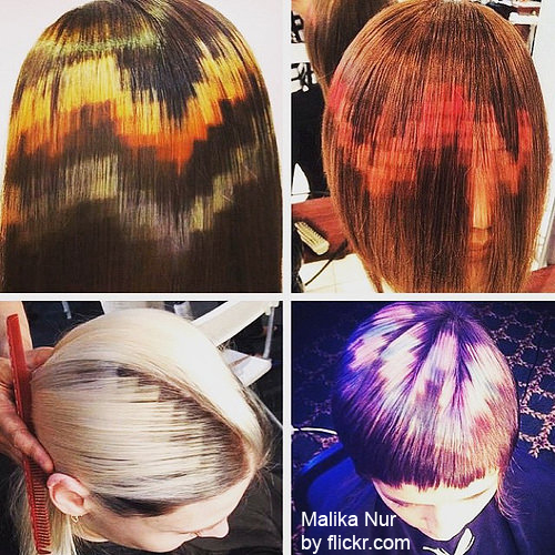 омбре на волосы средней длины прямые