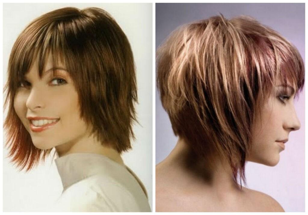 прическа градуированное каре на средние волосы
