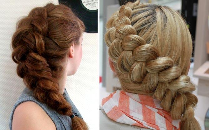 Плетение для густых длинных волос