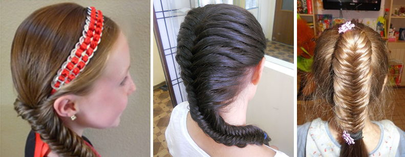прическа для девочки коса в хвост