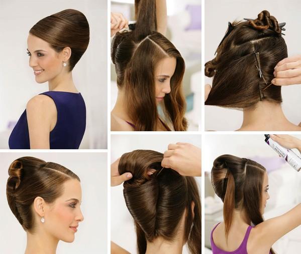 Причёски для средних волос ракушка