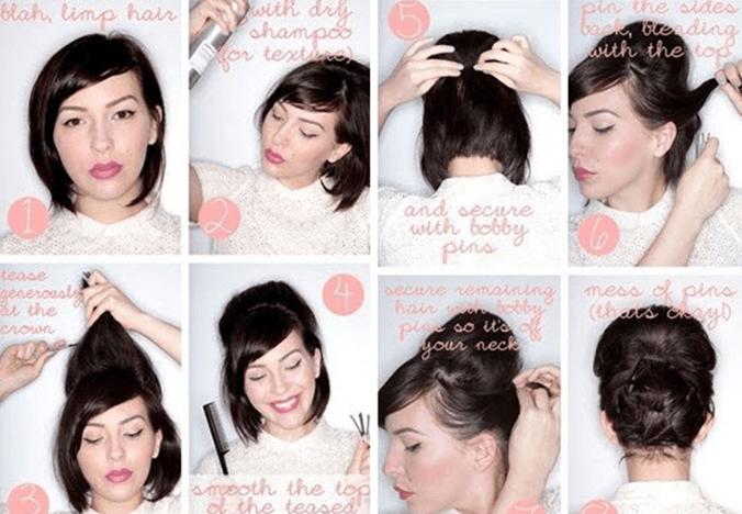 Как сделать вечернюю причёску на каре