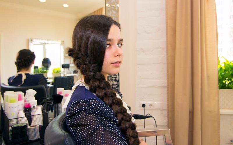 косы на длинные волосы густые