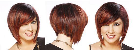 Стрижка боб каре градуированное на средние волосы фото