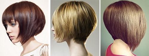 Стрижки на средний волос с объемным затылком