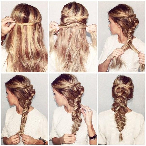 Прически на собранные волосы