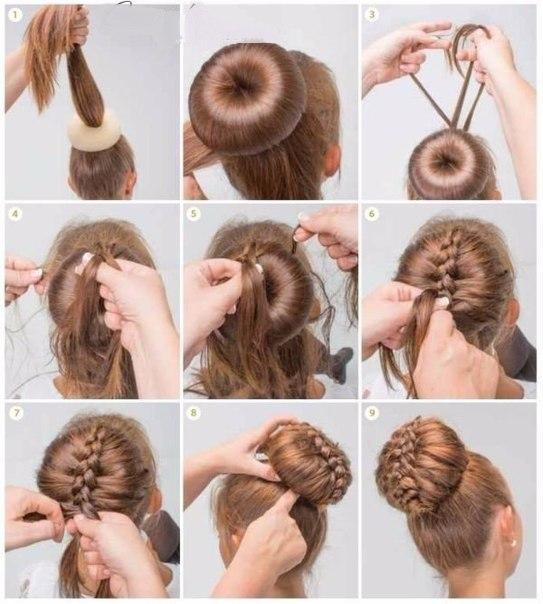 Как из длинных волос сделать пучок