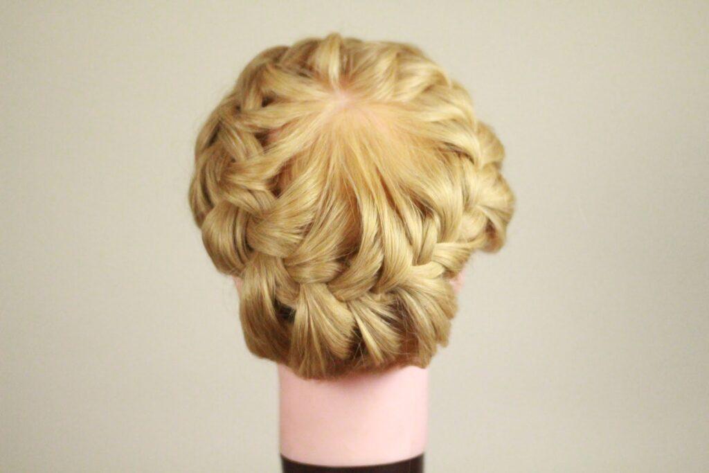 схема плетения корзинка из волос