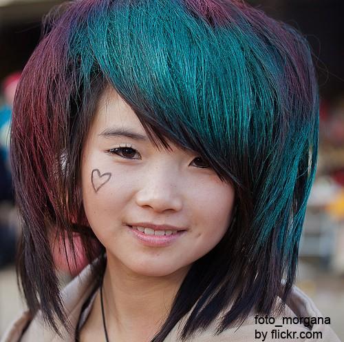 Такие причёски всегда яркие и оригинальные