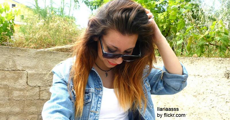 Такой метод позволяет получить эффект выгоревших волос