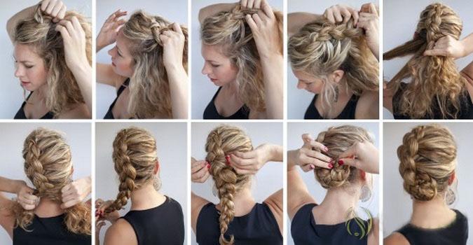 Как сделать косу на бок фото 26